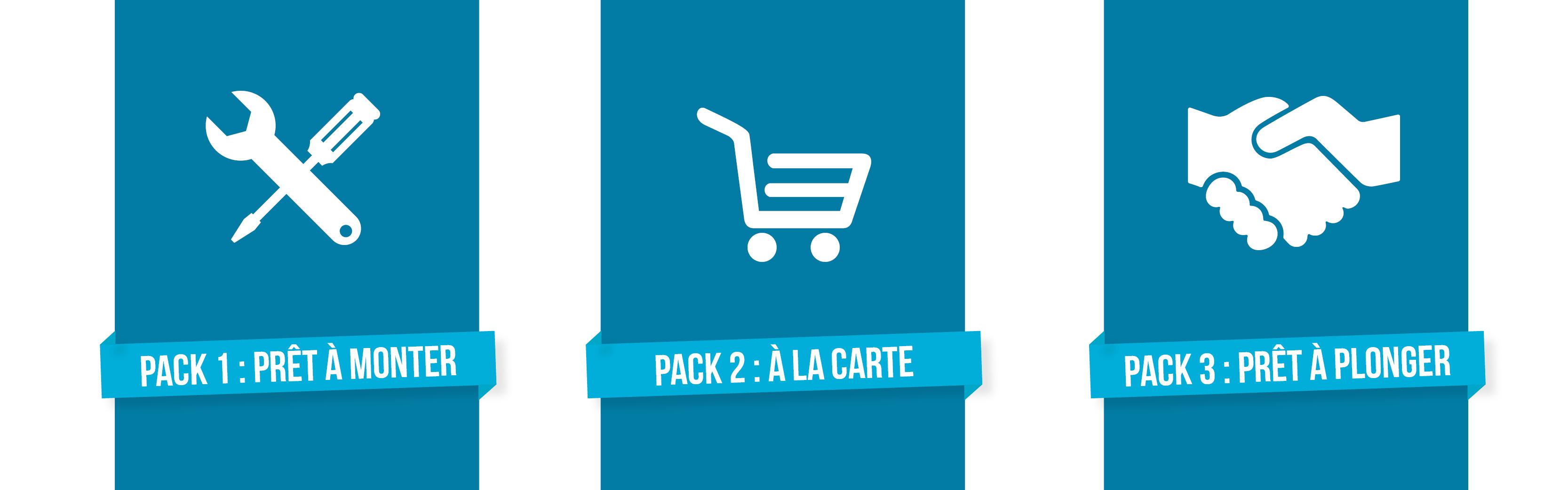 Packs montage - Aquilus Concarneau