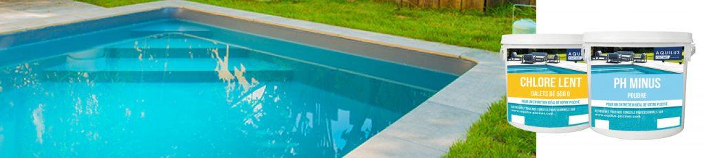 produits de traitement Aquilus pour l'eau de votre piscine
