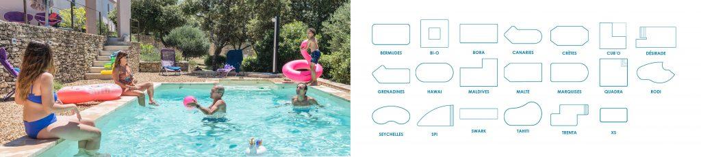 Choisissez le modèles de piscines Aquilus qui convient à vos envies et personnalisez-le à l'infini !