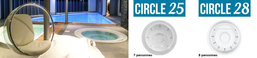 À la fois esthétiques et fonctionnels, découvrez nos spas à débordement Aquilus.