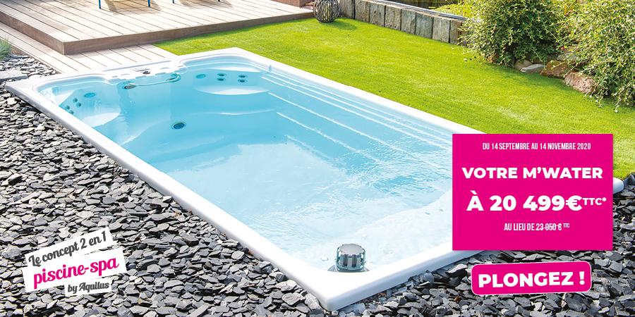 Offre promo sur la M'Water d'Aquilus : la piscine qui fait aussi spa !