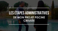 Les étapes administratives du projet piscine